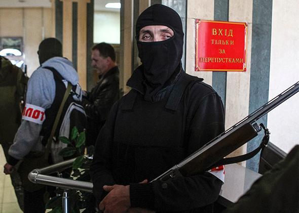 Pro-Russia armed men, Donetsk, Ukraine
