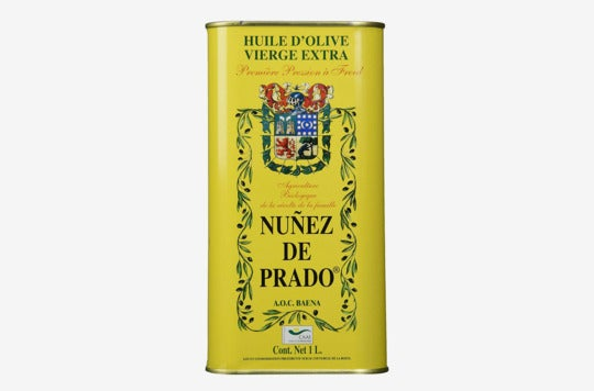 Nuñez De Prado Extra Virgin Olive Oil Tin.