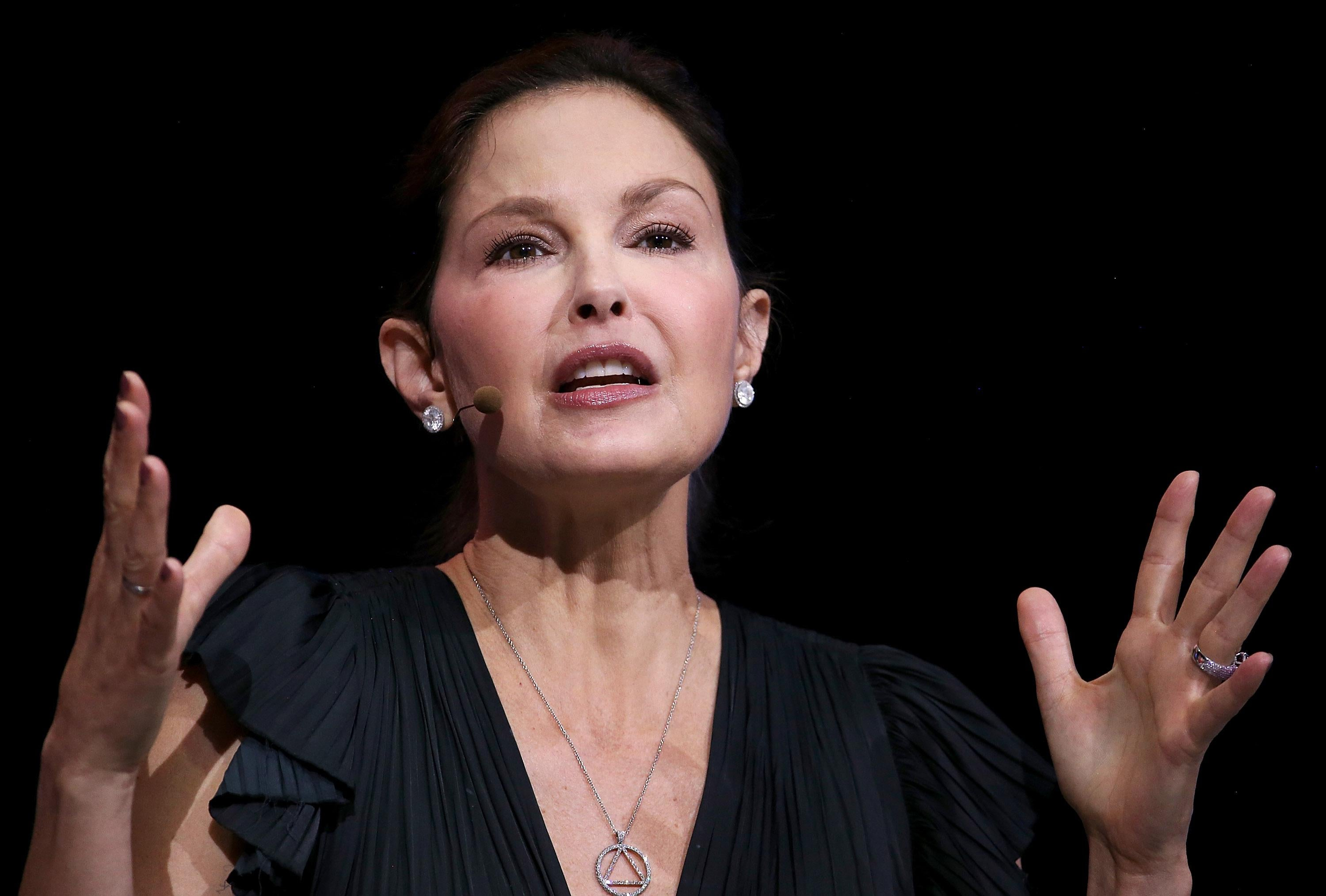 SAN FRANCISCO, CA - APRIL 24:  Actress and activist Ashley Judd speaks during the 29th annual Conference of the Professional Businesswomen of California (PBWC) on April 24, 2018 in San Francisco, California. The PBWC is a day of keynote speakers and seminars by top female leaders and panels of industry experts.  (Photo by Justin Sullivan/Getty Images)