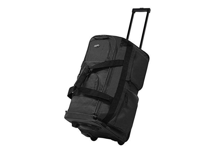 """Olympia Luggage 22"""" 8-Pocket Rolling Duffel Bag."""