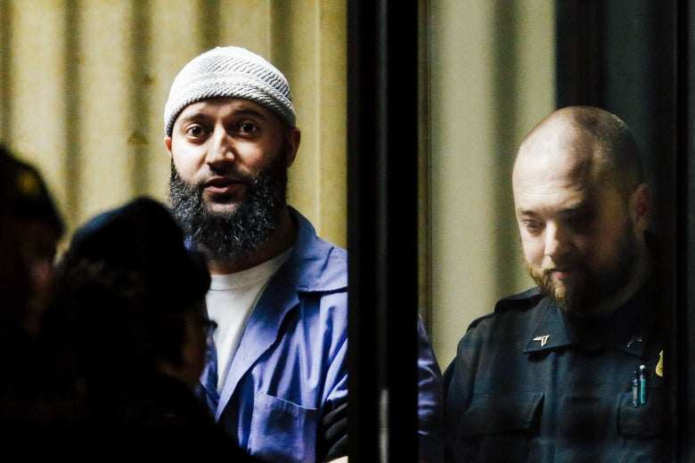 Adnan Syed leaves the Baltimore City Circuit Courthouse.
