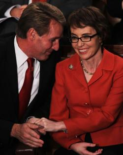 Jeff Flake and Gabrielle Giffords.