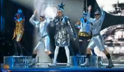 Screengrab of Eurovision 2007 in the Ukraine.