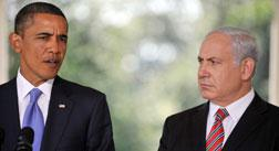 US President Barack Obama (L) makes remarks to the press with Prime Minister Benjamin Netanyahu of Israel. Click image to expand.