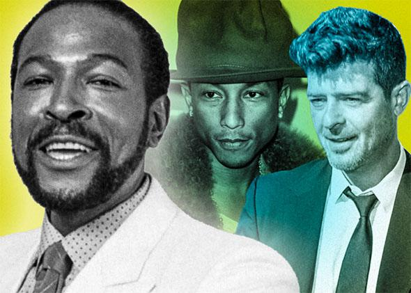 Marvin Gaye, Pharrell Williams, and Robin Thicke