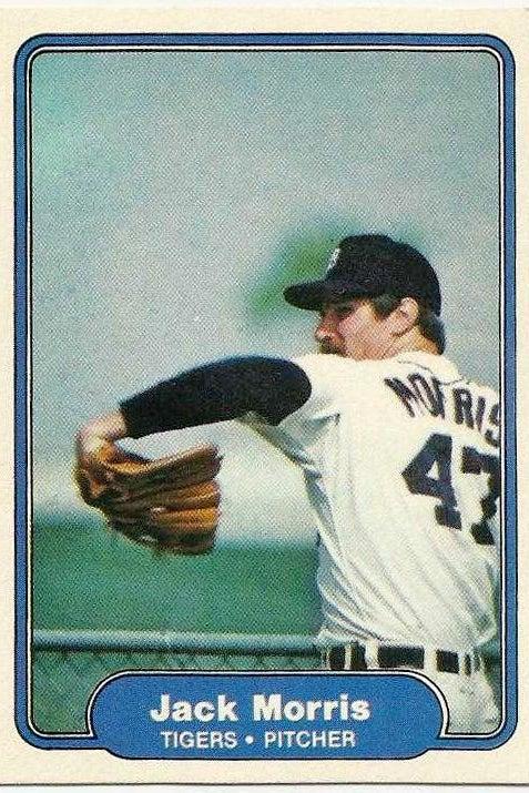 Jack Morris, worst baseball card.