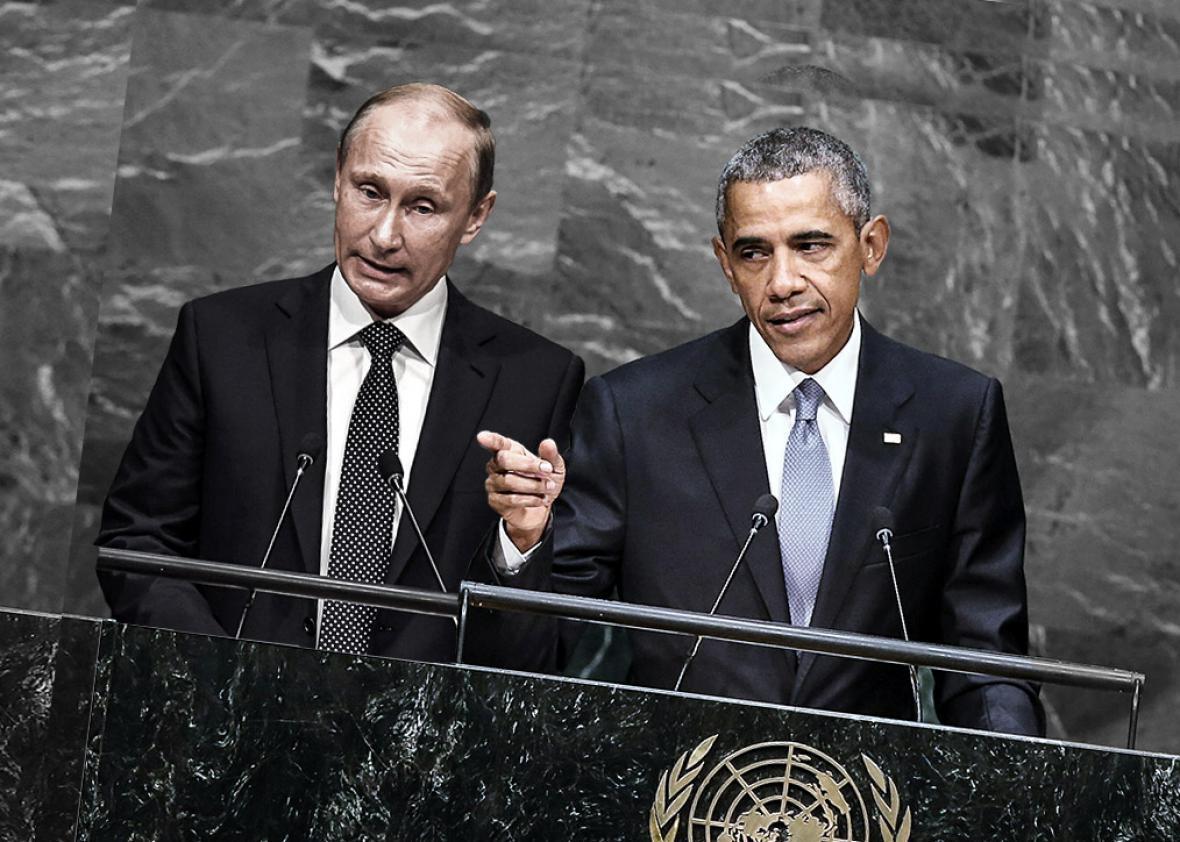 Russian President Vladimir Putin, left, and U.S. President Barac