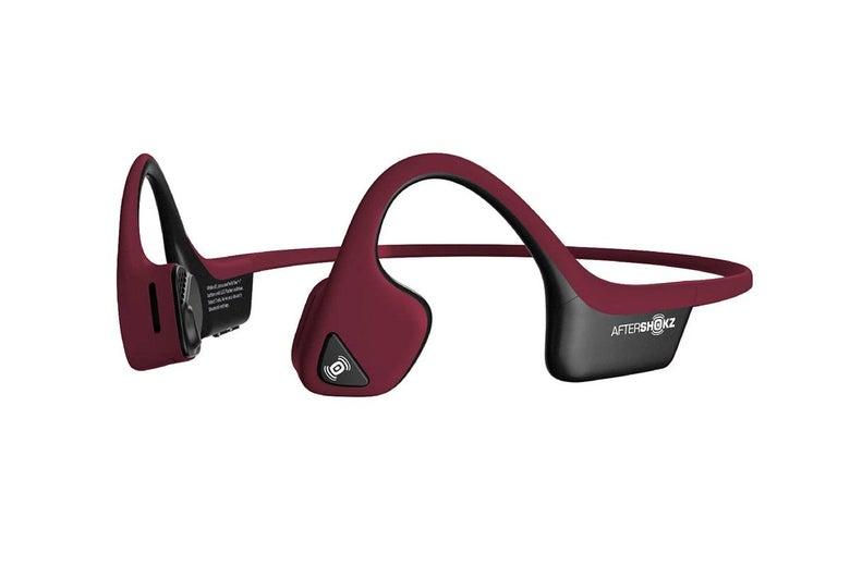 AfterShokz Air open ear wireless headphones.