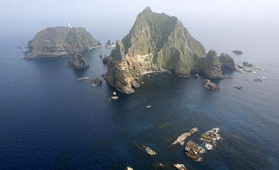 The Dokdo/Takeshima Islands.
