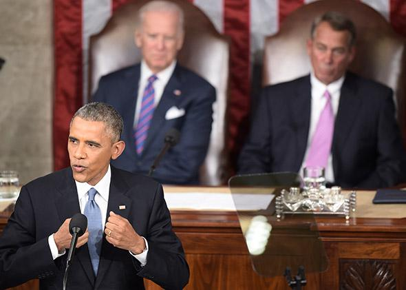 President Obama delivers the State of the Union.