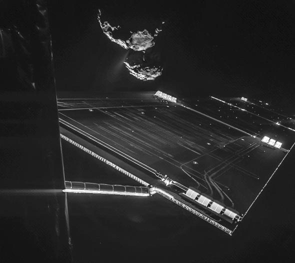 Selfie at comet