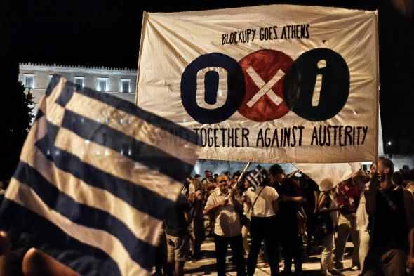 "Oxi! Athens Celebrates After Greece Votes ""No"" on Bailout Terms"