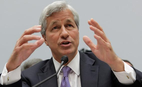 JPMorgan Chase & Co Chairman and CEO Jamie Dimon testifies before the House Financial Services Committee on Capitol Hill.