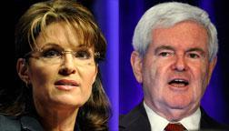 Sarah Palin and Newt Gingrich. Click image to expand.
