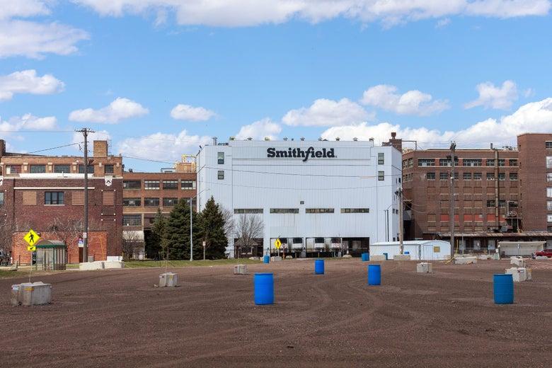 The Smithfield Foods pork processing plant in South Dakota