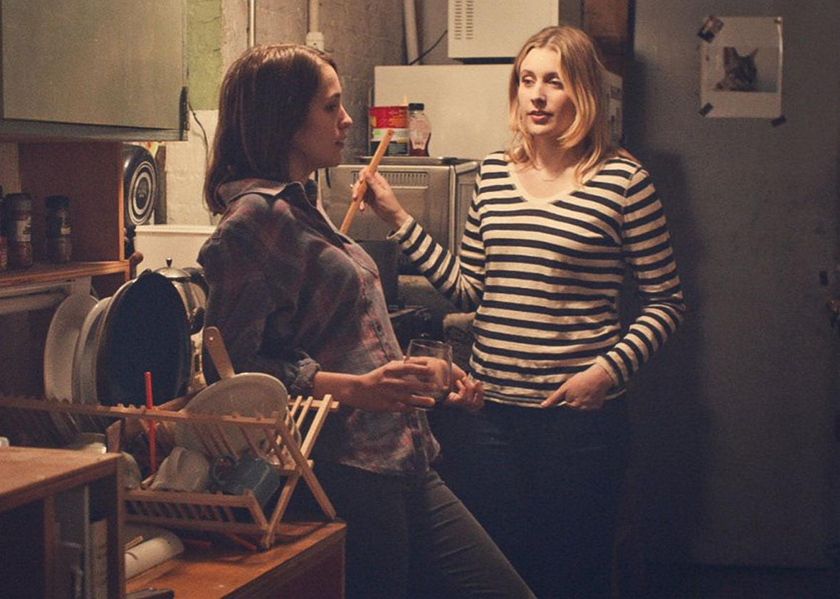 Lola Kirke, left, and Greta Gerwig in Mistress America.