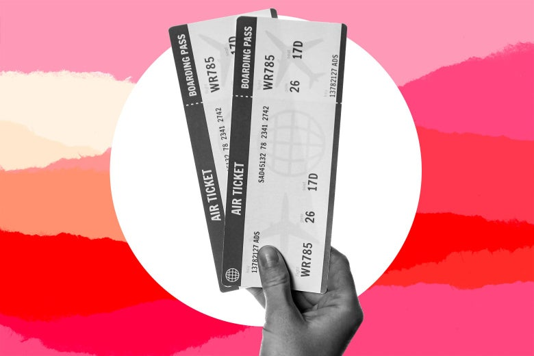 A pair of plane tickets.