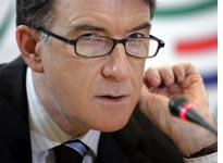 Mandelson: exiled in Brussels.          Click on image to enlarge.