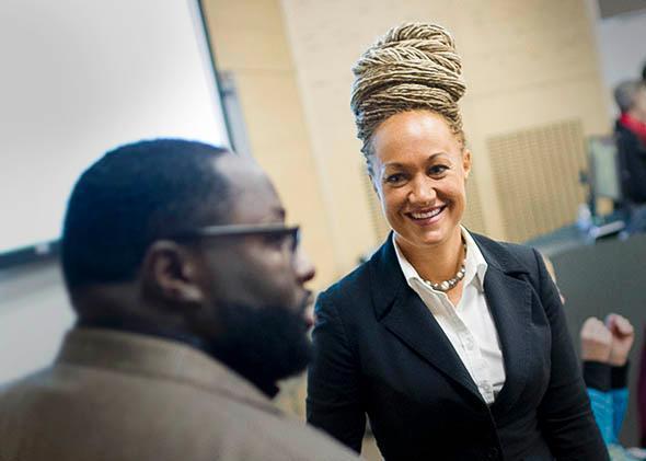 Rachel Dolezal, Spokane's newly elected NAACP President.