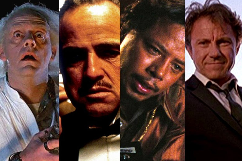 Back to the Future, The Godfather, Hustle & Flow, Reservoir Dogs