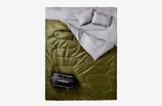 Sleepingo Double Sleeping Bag For Backpacking, Camping, Or Hiking.