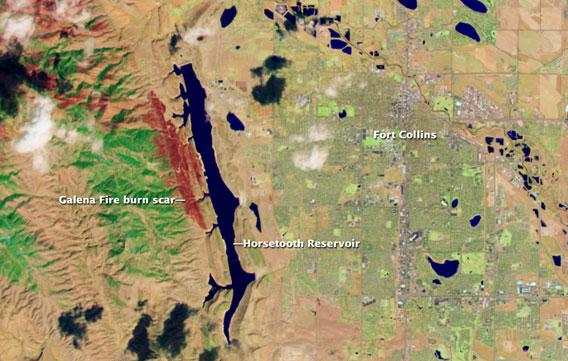 Ft. Collins Colorado from space