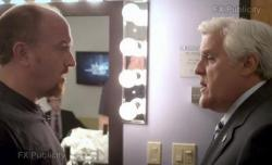 Louis C.K. and Jay Leno, right, in Louie.