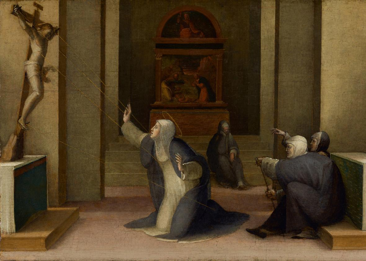 Saint Catherine of Siena Receiving the Stigmata