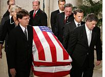 Rehnquist's funeral came after two days of lying in repose. Click image to expand.