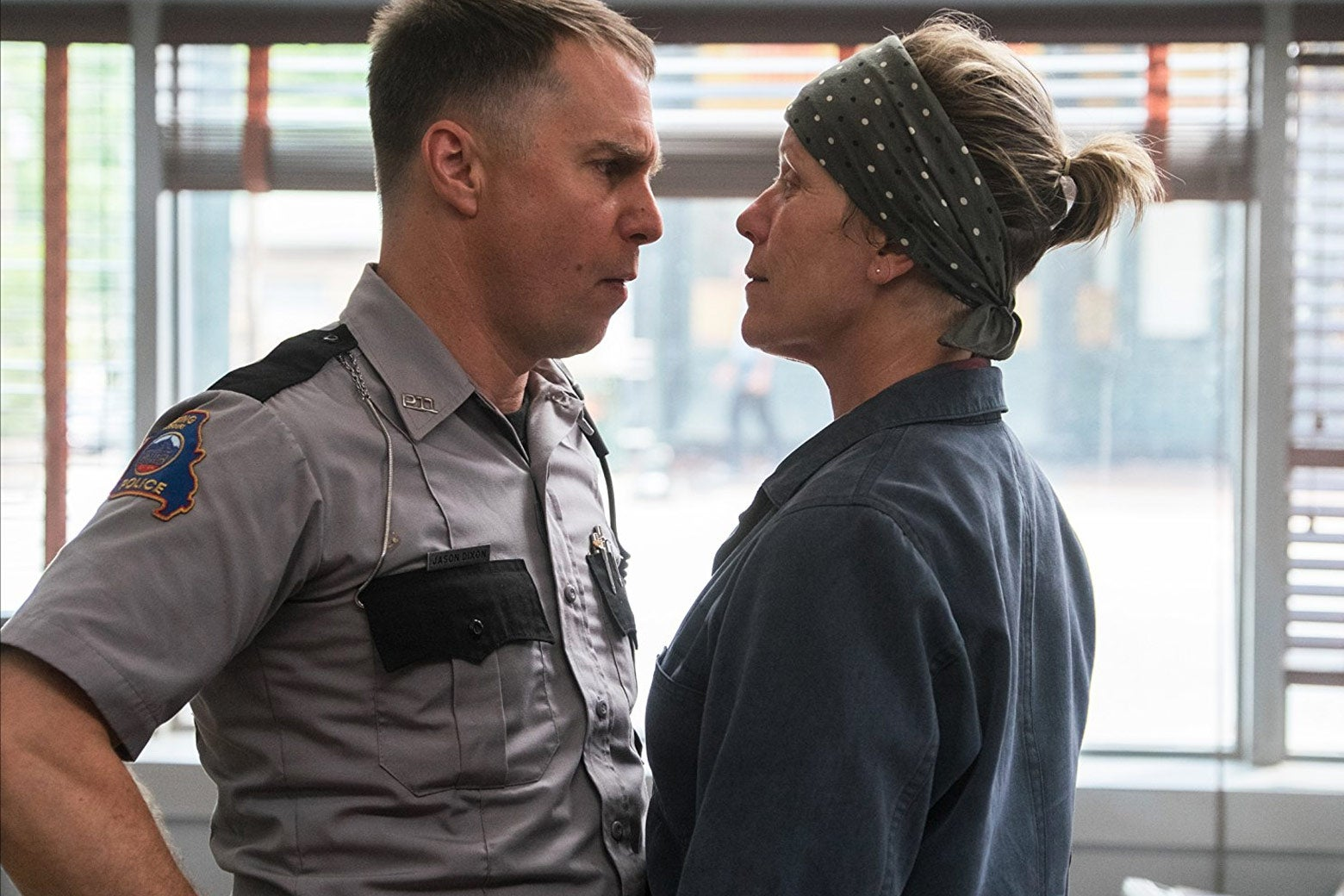 Sam Rockwell and Frances McDormand in Three Billboards Outside Ebbing, Missouri.
