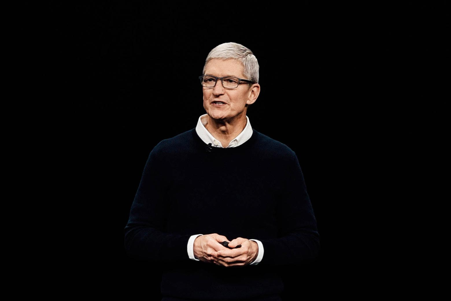 Apple Inc. CEO Tim Cook speaks during a company product launch event on Monday in Cupertino, California.