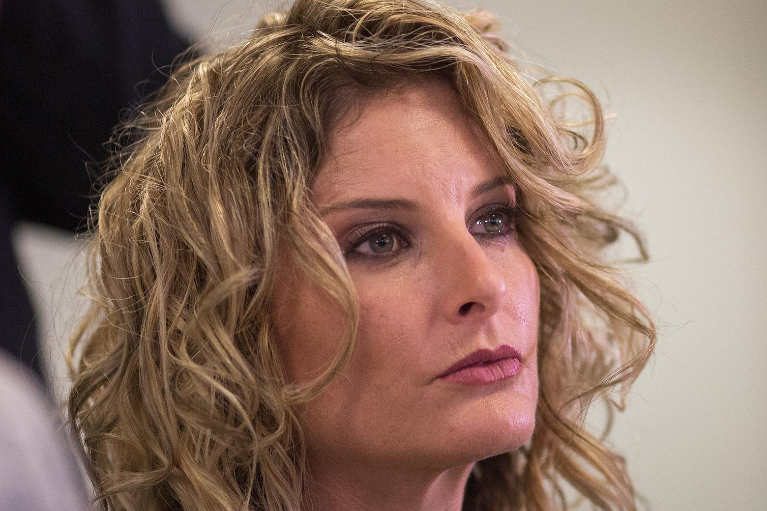 Summer Zervos attends a press conference to announce her defamation lawsuit against President-elect Donald Trump on January 17, 2017 in Los Angeles, California.
