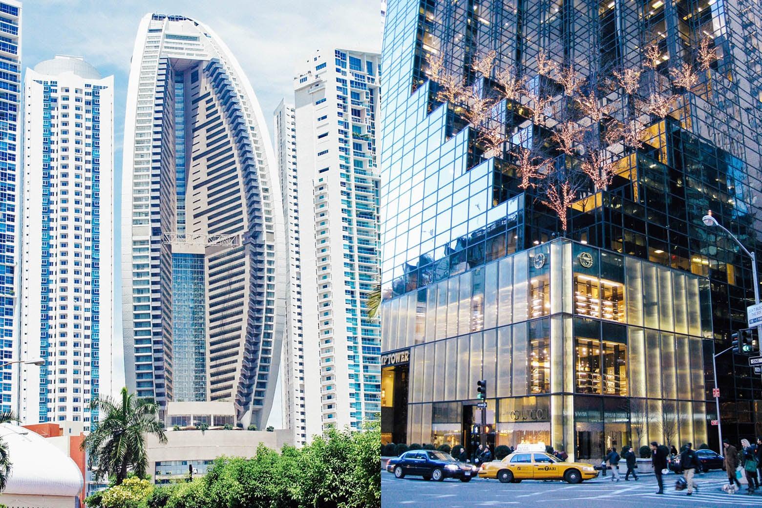 Trump Panama City Hotel, Trump Tower Manhattan.