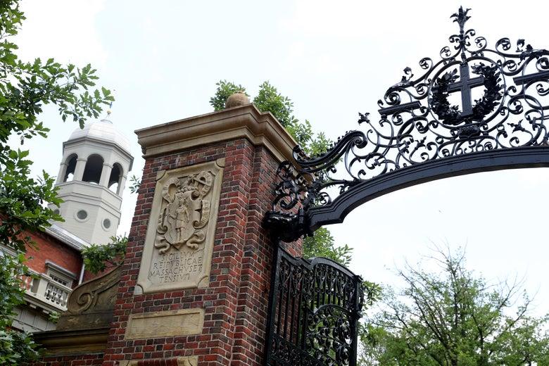 A gate to Harvard Yard