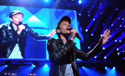 Nate Ruess of fun. performs onstage during Z100's Jingle Ball 2012 at Madison Square Garden on December 7 in New York City.