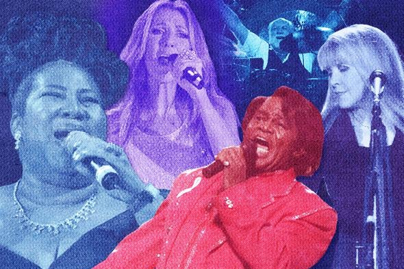 Fleetwood Mac, Celine Dion, James Brown and Aretha Franklin