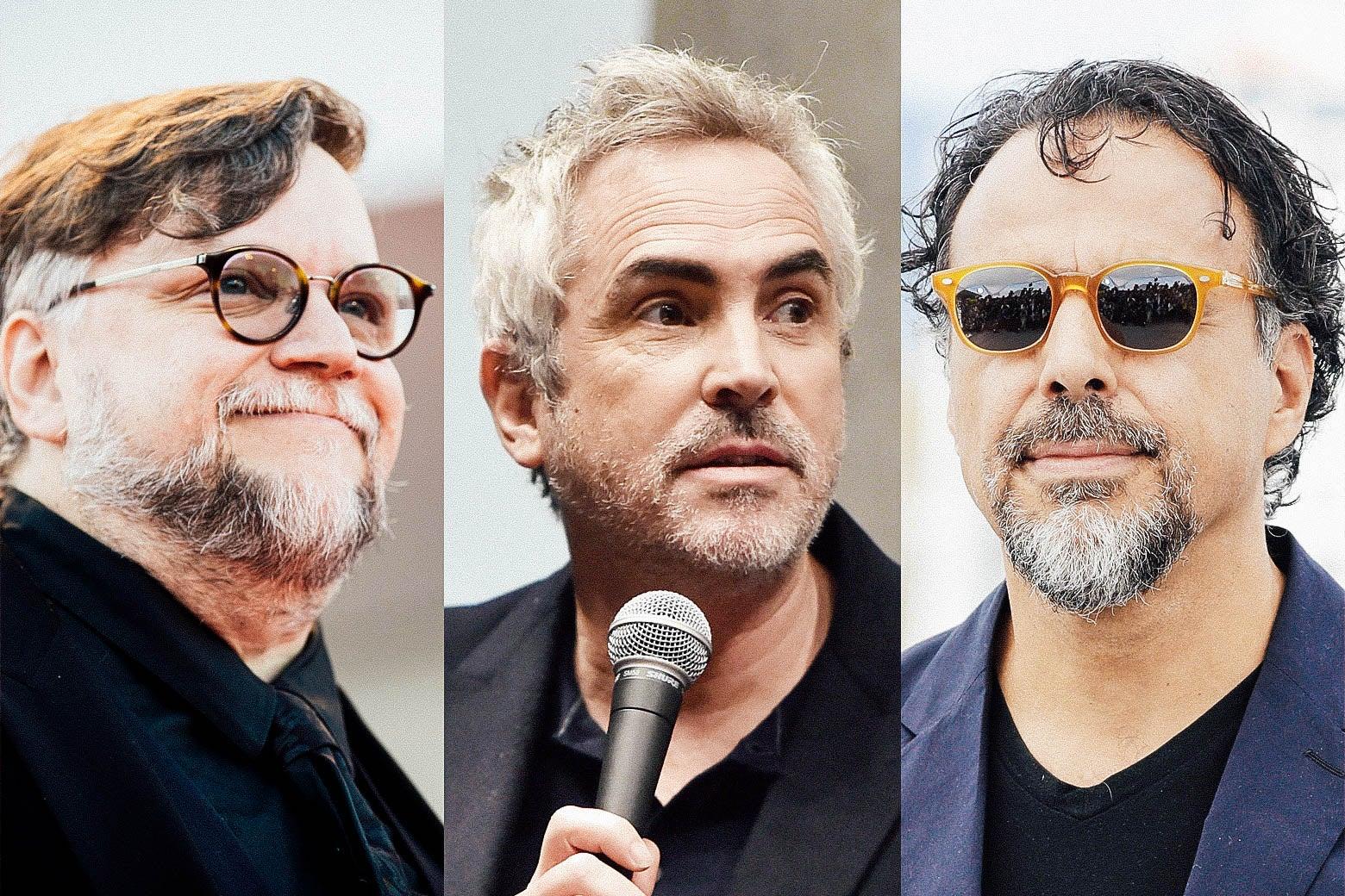 Guillermo del Toro, Alfonso Cuarón, and Alejandro González Iñárritu.