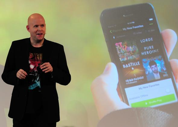 Spotify founder and CEO Daniel Ek announces a new free mobile streaming service