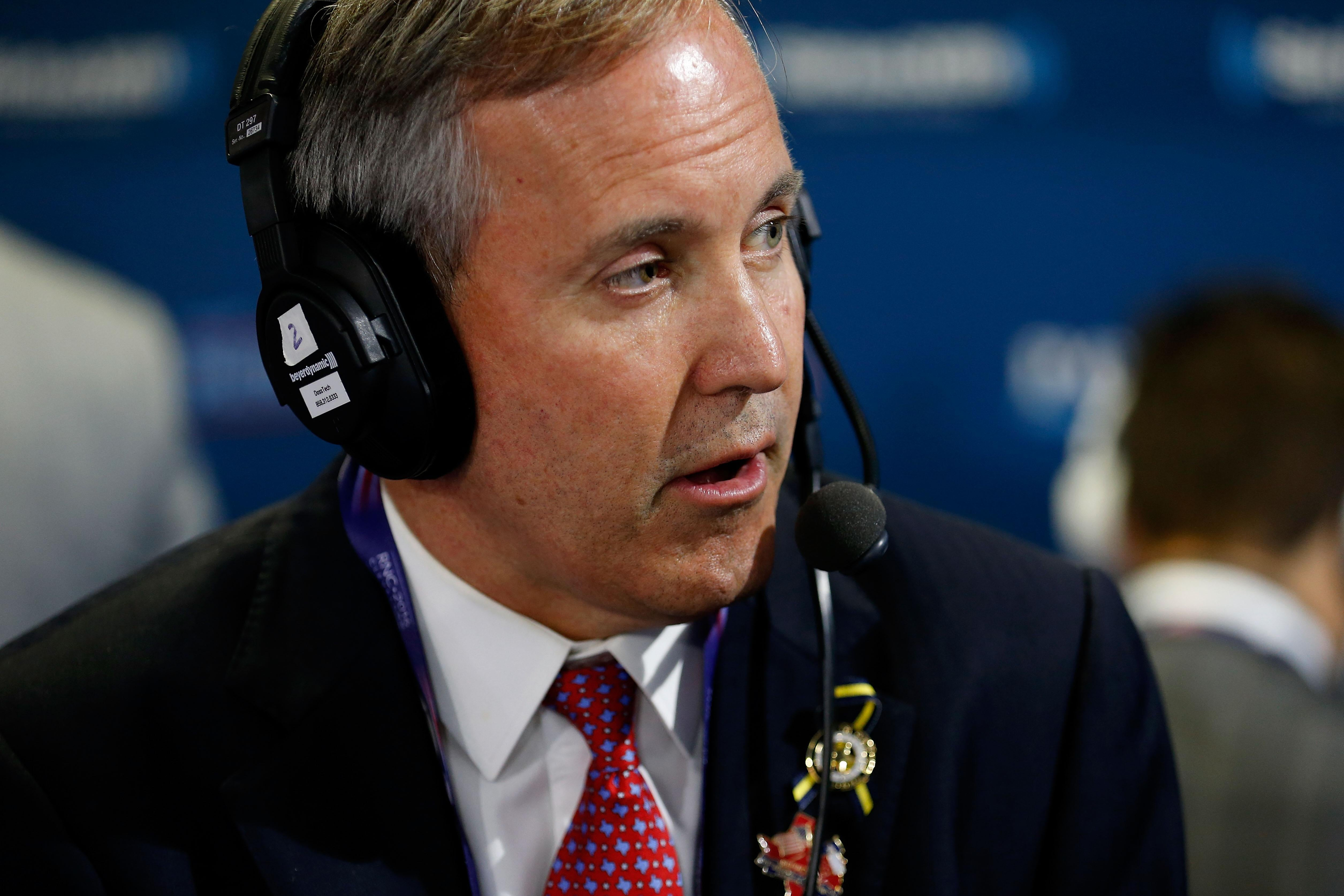 Texas Attorney General Ken Paxton, who pushed the bogus claim of voter fraud. (Photo by Kirk Irwin/Getty Images for SiriusXM)