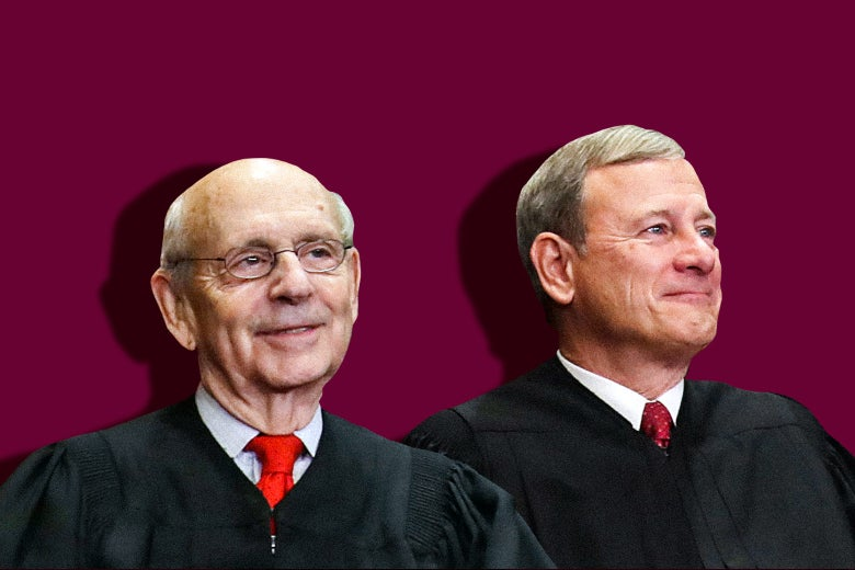 Justice Stephen Breyer and Chief Justice John Roberts.