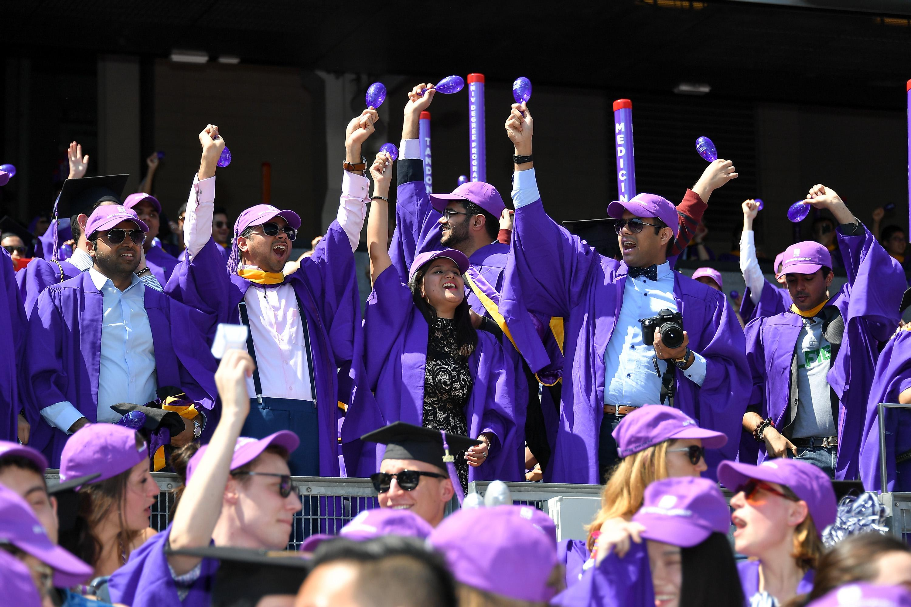 NEW YORK, NY - MAY 17:  Students attend the New York University 2017 Commencement at Yankee Stadium on May 17, 2017 in the Bronx borough of New York City.  (Photo by Dia Dipasupil/Getty Images)