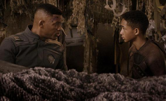Will and Jaden Smith in M. Night Shyamalan's After Earth