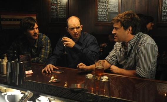 Mark Duplass, Paul Scheer and Jonathan Lajoie in The League.