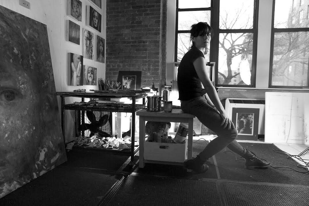 Artist Alyssa Monks in her studio.