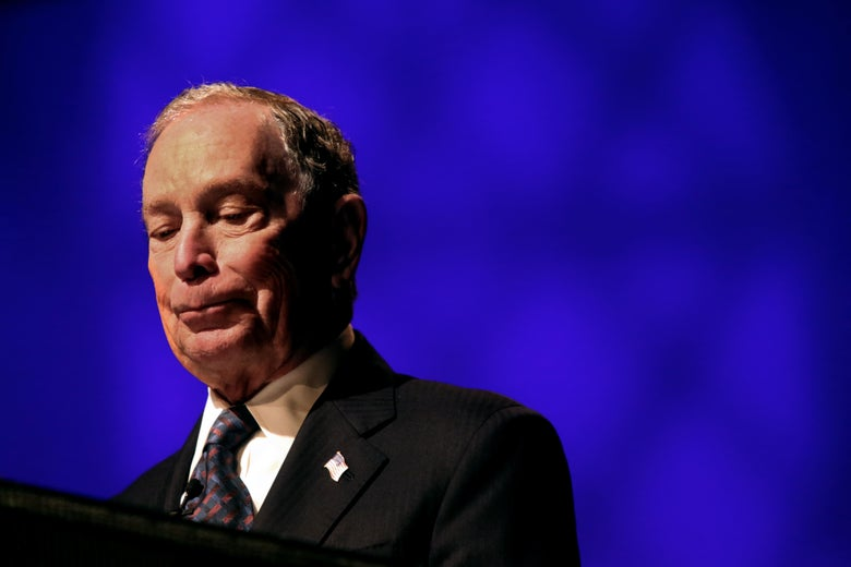 Michael Bloomberg speaks at the Christian Cultural Center on November 17, 2019 in the Brooklyn borough of New York City.