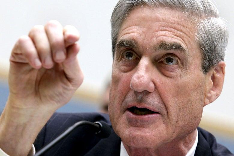 A close-up of Robert Mueller on Capitol Hill.