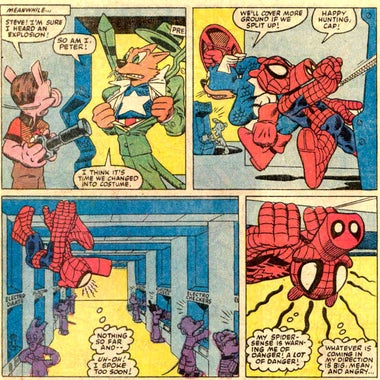 A Spider-Ham comic strip.