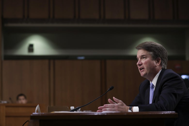 Supreme Court nominee Brett Kavanaugh testifies before the Senate Judiciary Committee on Sept. 6.