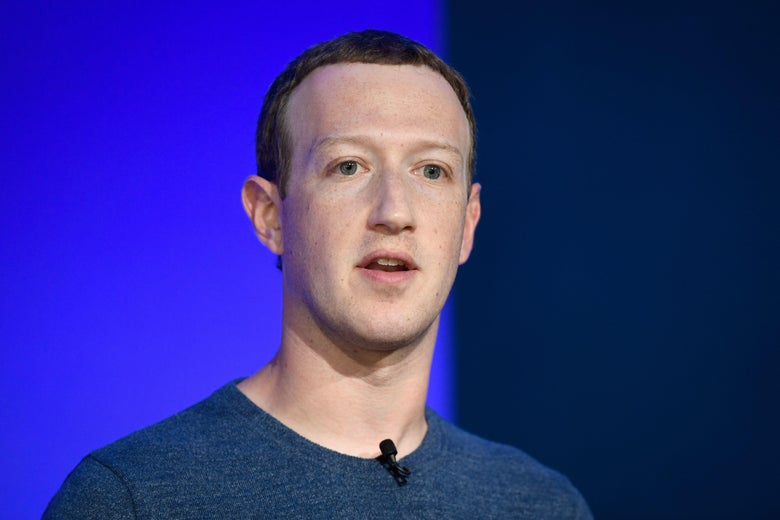 Facebook CEO Mark Zuckerberg speaks at a press conference.