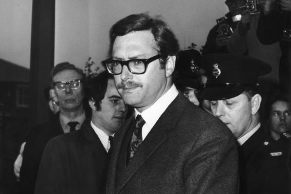 Bruce Reynolds, leader of the gang, which committed the 2.6 million pound 'Great Train Robbery' in August 1963.